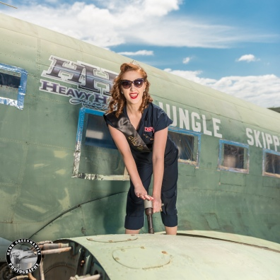 Miss Kelly - The Flying Pinup (Miss Wings and Wheels) - Photographer Mark Greenmantle