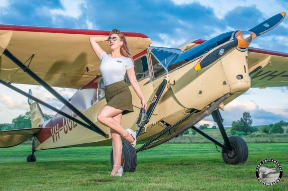 Miss Kelly - The Flying Pinup - Photographer Mark Greenmantle